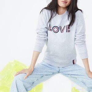 Kule | The Raleigh Love Crewneck Sweatshirt M Gray